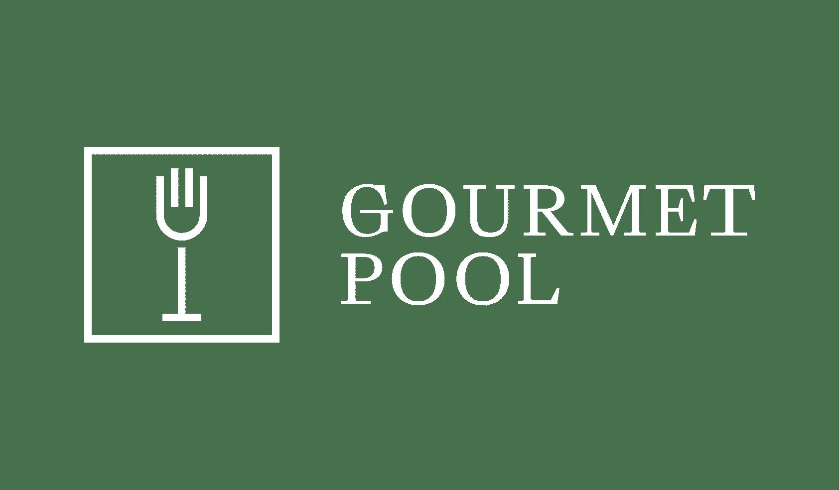 GourmetPool Logo weiß
