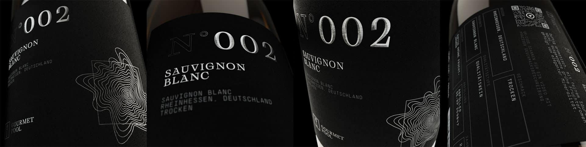 Weinflaschen Detailaufnahme N°002 Sauvignon Blanc
