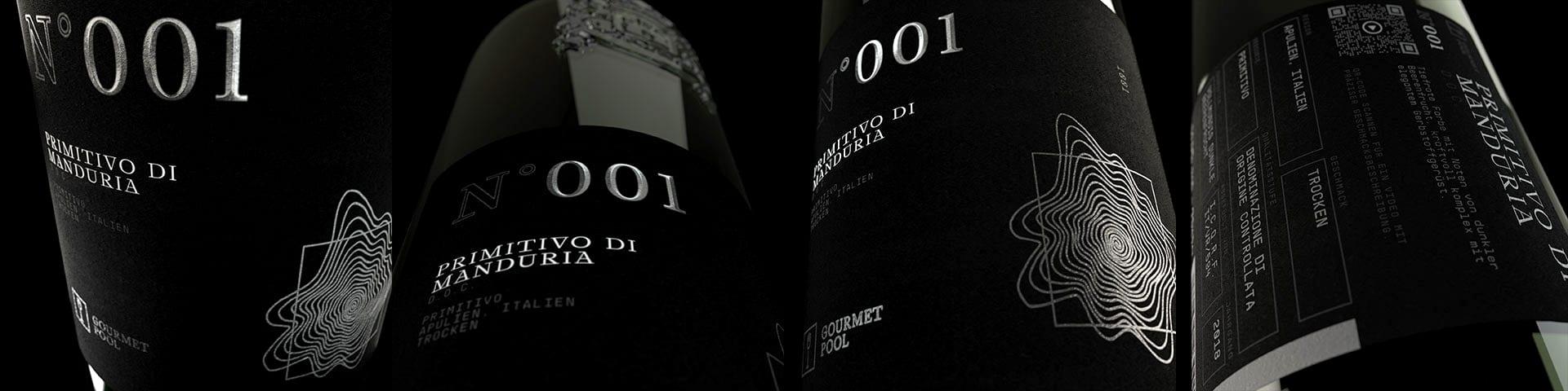 Weinflaschen Detailaufnahme N°001 Primitivo di Manduria