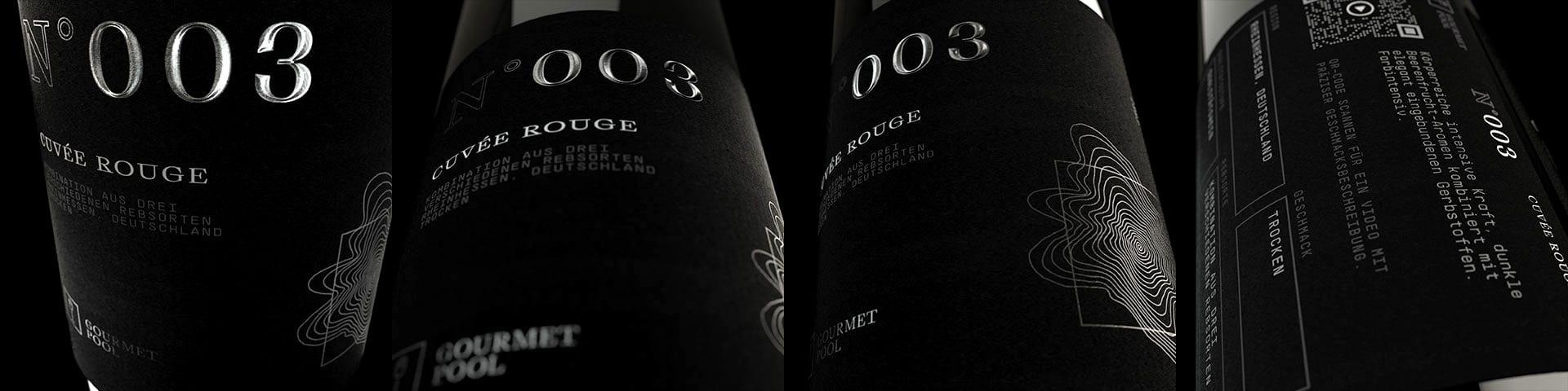 Weinflaschen Detailaufnahme N°003 Cuvée Rouge