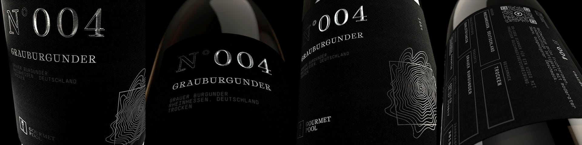 Weinflaschen Detailaufnahme N°004 Grauburgunder