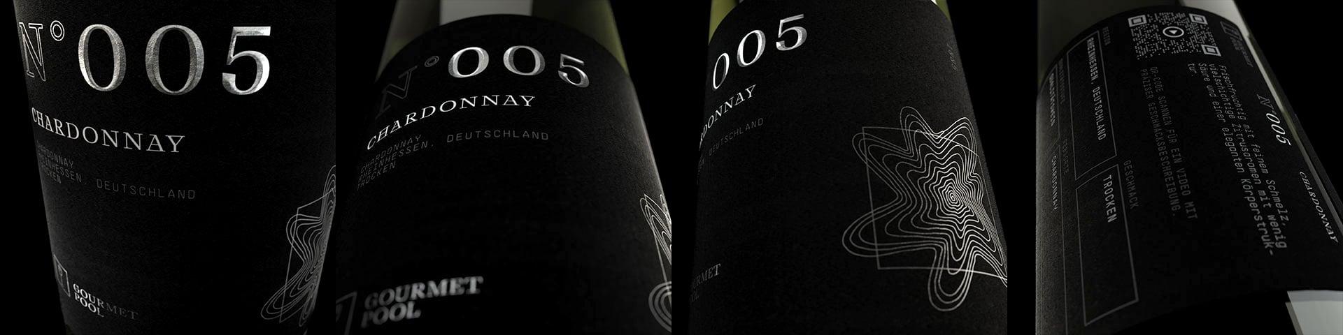 Weinflaschen Detailaufnahme N°005 Chardonnay