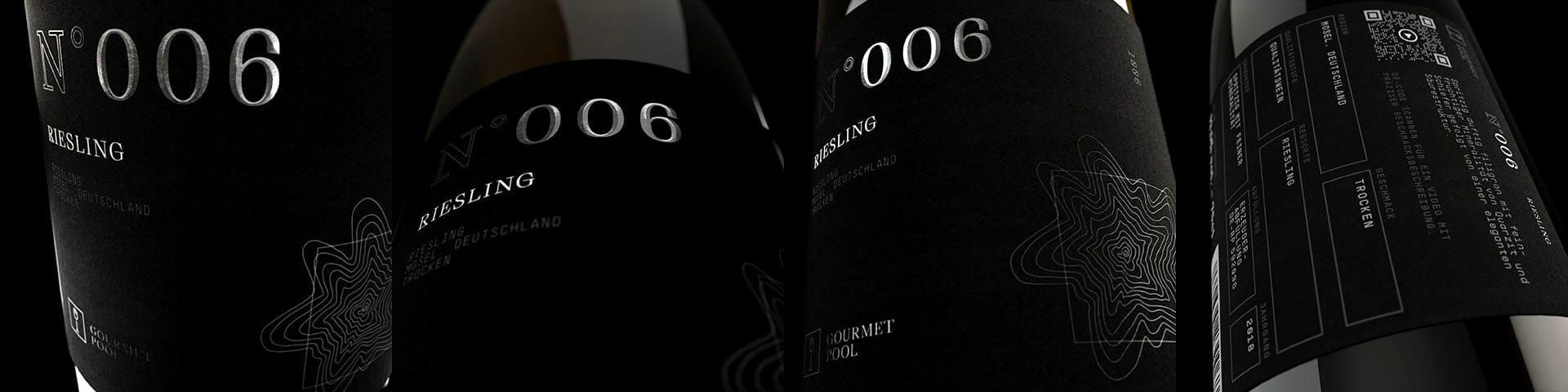 Weinflaschen Detailaufnahme N°006 Riesling