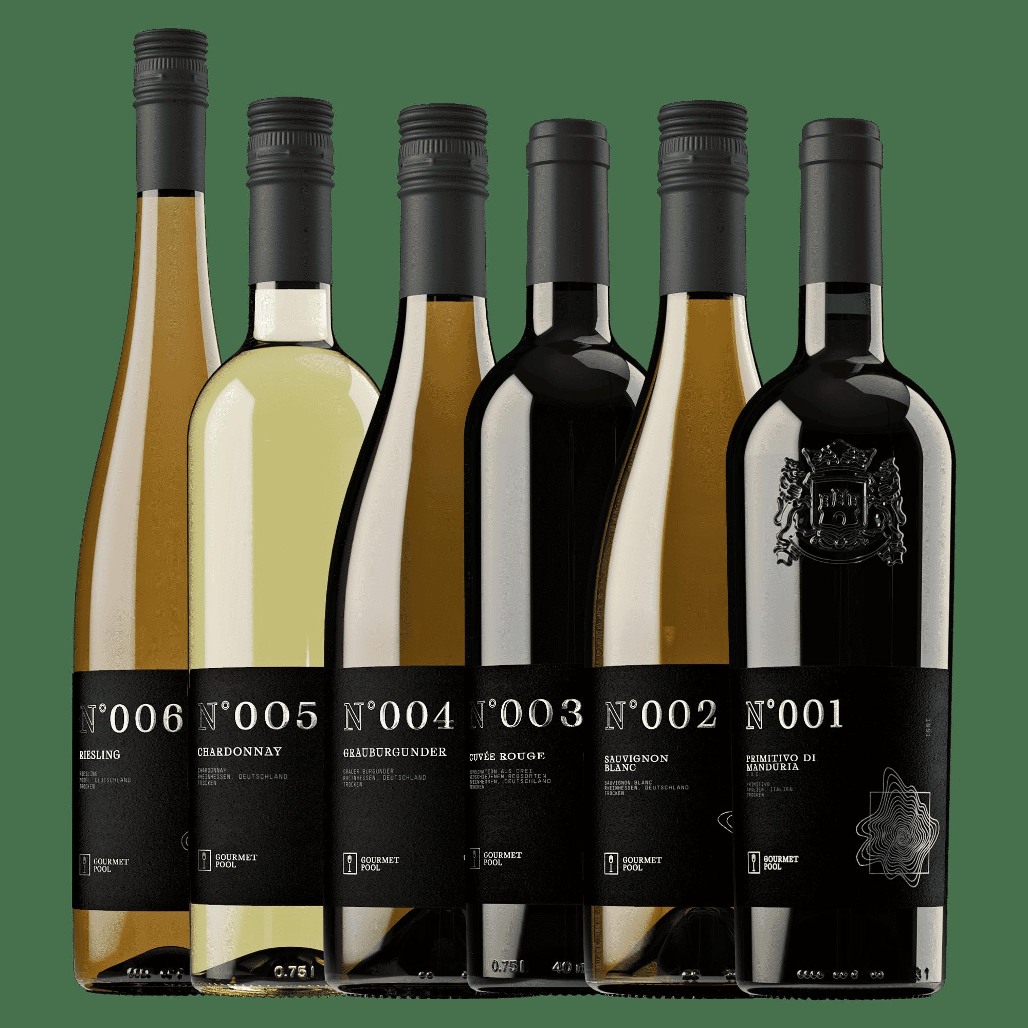 Probierpaket - Rot und Weiß (6 Flaschen)
